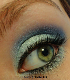 Inspired by Elsa's dress in Disney's Frozen.  Used BH Cosmetics Galaxy Palette http://bit.ly/1mZmC17