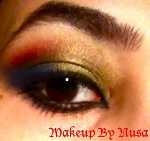 Arabic makeup inspired by the singer Haife Wahbe