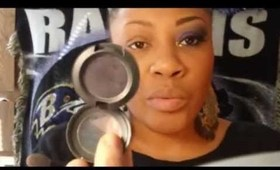 Baltimore Ravens Purple Make Up Tutorial