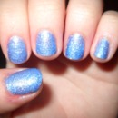 Baby Blue Glitter Nails