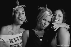 The Ladies && I goofing off after the show. 9/03-11