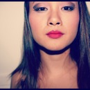 purple eye red lips.