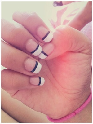 My twist on French Nails(: