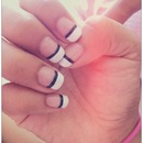 Black On White Nails