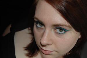 green blue eyeshadow