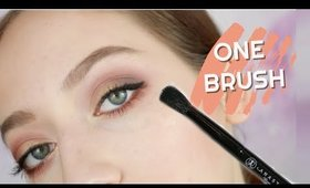 USING ONE EYESHADOW BRUSH FOR MY ENTIRE EYE LOOK: HOW TO
