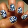 Blue Zebra Nails
