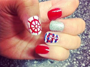 Sailor nails by me :)