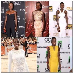 It was so hard to choose, but here are a few of my favorite looks from the gorgeous Lupita Nyong'o. She is such the fashionista. Luv her!!!