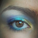 Gold, aqua, and violet eyes