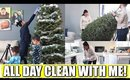 ALL DAY CLEAN WITH ME!   Cleaning Out Christmas Decorations With My Family