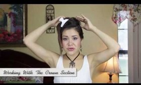 HOW TO: Salon Style Pin Curl Up Do