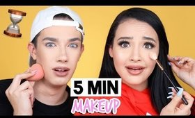 5 MINUTE MAKEUP CHALLENGE WITH JAMES CHARLES!