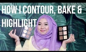 How I Contour, Bake & Highlight | Hazimah Syahindah