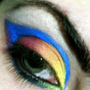 Rainbow eye make-up inspired by VintageOrTacky