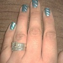 Blue-Green With Silver Stripes