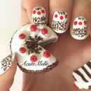 Black forest cake inspired nail art