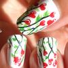Love, Hearts, Romantic Floral Nail Art ❤