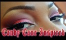 Candy Cane Inspired Makeup Tutorial