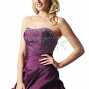 Vintage Taffeta Fuchsia Quinceanera Dress can bright up your skin