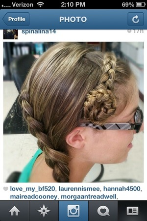 This braid was specifically done by the same nail technician where I live.