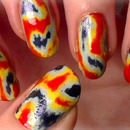 Rainbow Marble / Tie-Dye Nails - No Water!