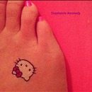 Fake Hello Kitty Tattoo