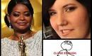 Octavia Spencer Oscars inspired makeup on Meghan Tonjes