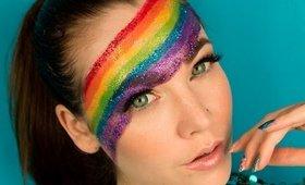 Celebrating Gay Pride Rainbow make up