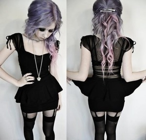 Cred: to the girl {weheartit} • • Lilac hair