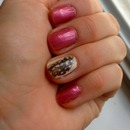 Feather Nail Art (left hand)