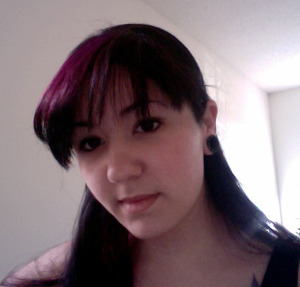 when i dyed my bangs purple. i should smile more huh? lol