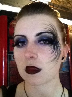 Goth inspired makeup for a friends birthday