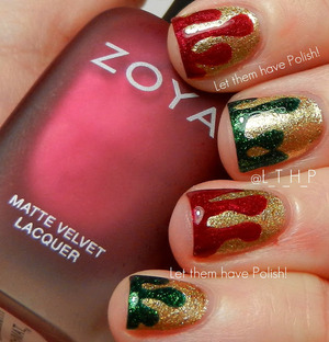 A non-traditional take on the Holiday mani.
