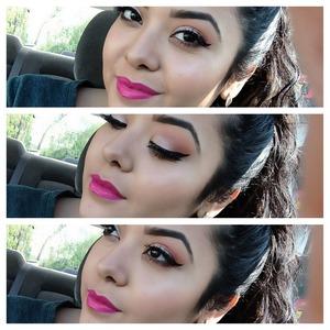 Gotta love a bright lip!