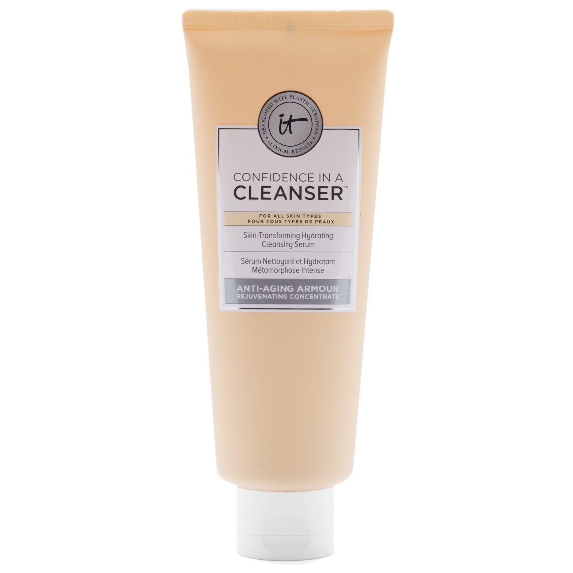 IT Cosmetics  Confidence in a Cleanser product swatch.