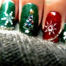Christmas Nails Gelish With Konad