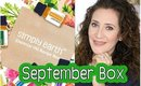 SIMPLY EARTH - ESSENTIAL OIL RECIPE BOX:  SEPTEMBER BOX