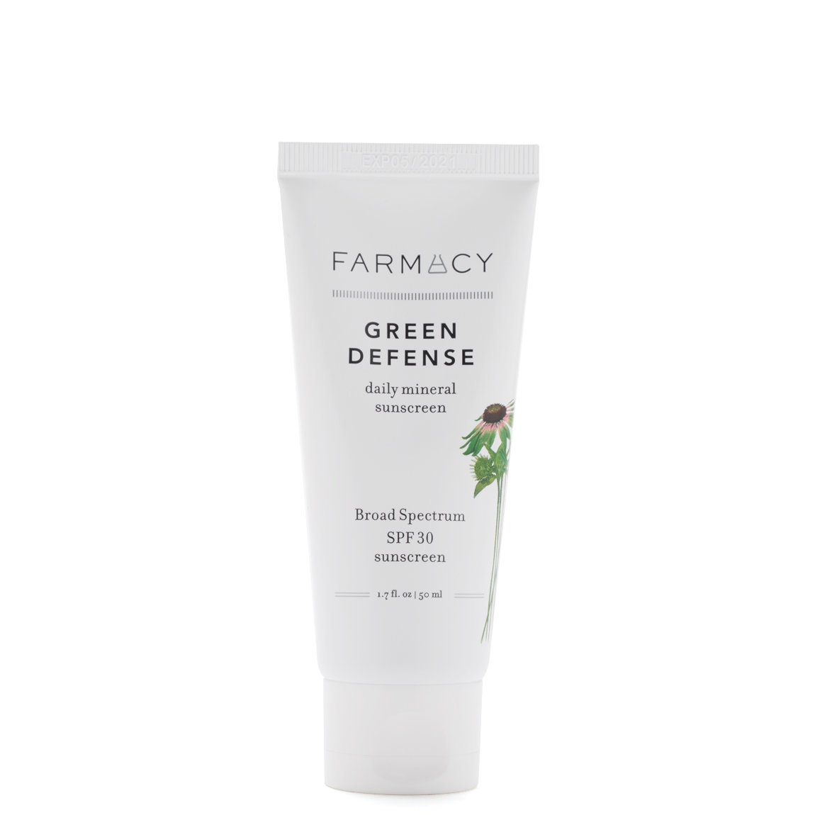 Farmacy Green Defense Broad Spectrum SPF 30 Mineral Sunscreen product swatch.