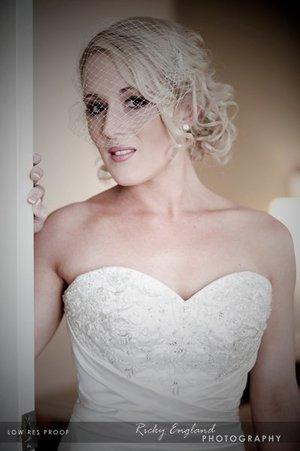 Bridal  Hair and MU- Jen P Ricky England Photography