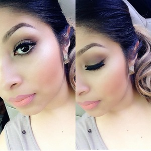 Brown smokey eye with sweet and sour lipstick from Macs all about orange collection  Join me on Instagram for daily post @always_heidymua