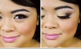 Black & Gold Smokey Eye Makeup Tutorial // MAC & L'Oreal Eye Shadows // villabeauTIFFul