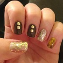 Studs and glitter nails