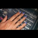 Lit glitter nails