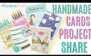 Handmade Cards Project Share Using New Dies, Cake Shaped Birthday Cards