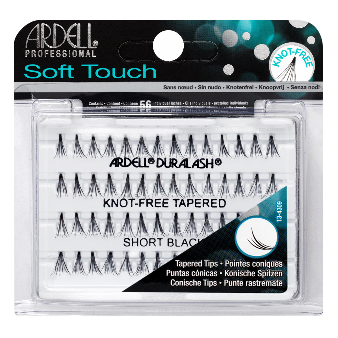 Ardell Soft Touch Individuals Knot-Free Lashes Short Black alternative view 1.