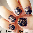 DIY Lace Nails (with real lace!)