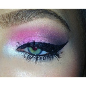 Pink💕And Grey Smokey Eye