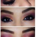 love my peachy pink smokey eyes ❤