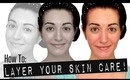 HOW TO: CORRECTLY LAYER SKIN CARE PRODUCTS! Acne Treatments, Serums & More